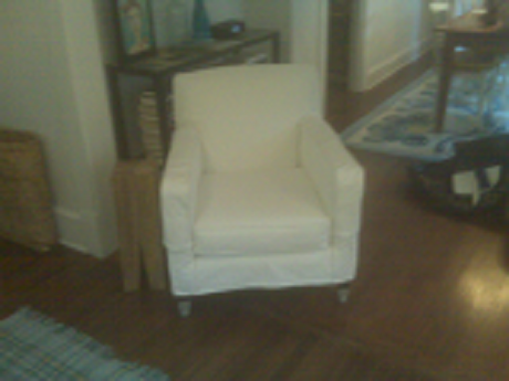 White Cotton Chair Slipcover