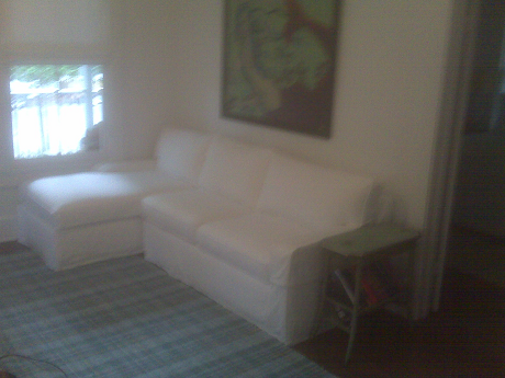 White Cotton Chaise Sofa Slipcover