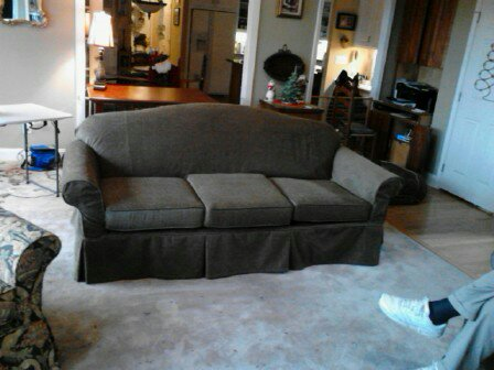 Green Corduroy Sofa Slipcover
