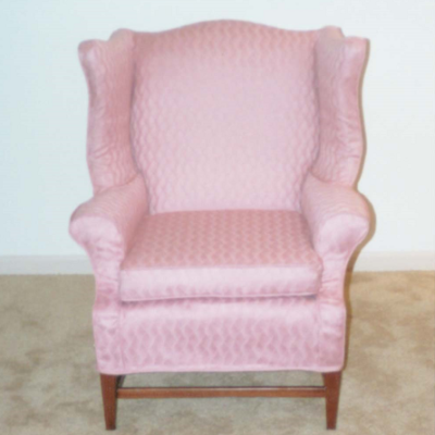 Pink Wingback Slipcover